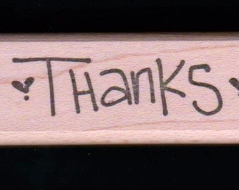 O'Scrap Rubber Mounted Stamp ~ SMALL THANKS