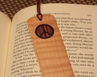 Bookmark, Piece symbol, hand cut Marquetry wood inlay