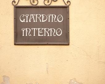 """Tuscany, Italy, """"giardino interno"""" - Fine art photography, travel photography, home decor"""