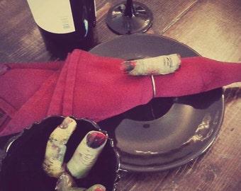 zombie finger napkin ring