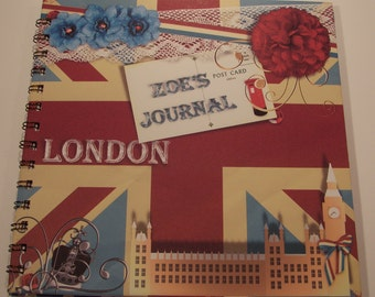 Handmade Personalised London Photo Album Scrapbook Brag Book