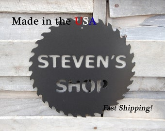 Personalized Tool Shop Sign, Tool Sign, Outdoor/Indoor, Metal Art, Tool Shop, Metal Sign, Garage Sign, Man Cave Sign, Fathers Day, S1022