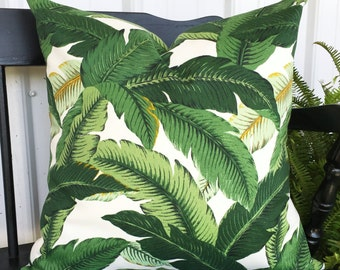 20x20 pillow cover tropical beach design Tommy Bahama print outdoor fabric Decorative Throw Pillow