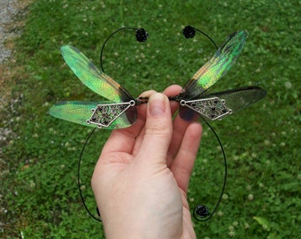 OOAK beautiful romantic iridescent dragonfly fairy wings RD7