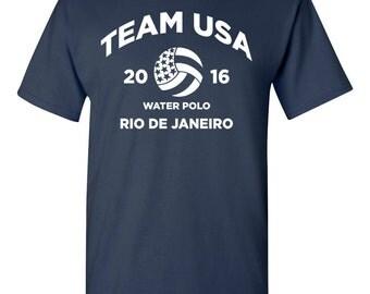 Water Polo Team USA United States America Rio Men's Tee Shirt 1474