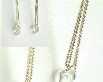 Dangling ice earrings