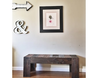 Bench using reclaimed wood