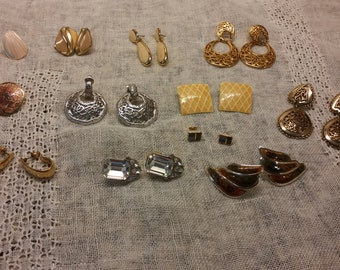 Twelve Pair of Earrings, Lot SJ32 Estate Find Craft Use