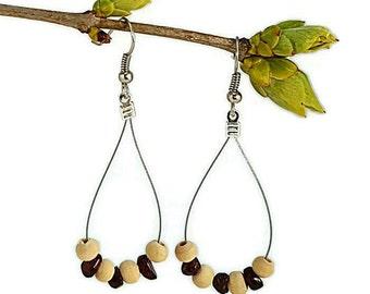Garnet earrings, ethnic jewelry, dangle drop earrings silver, red gemstone jewelry handmade ethnic earring gemstone red garnet jewelry waina