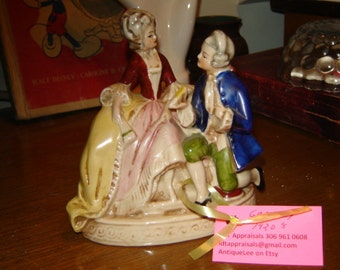 1920's Germany porcelain figurine colonial couple