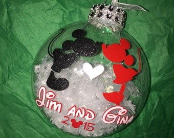 Disney Mickey and Minnie Custom Couple Ornament