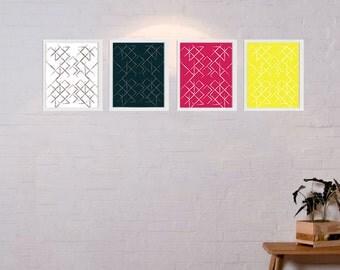 "8"" x 10"" Geometric Prints - Set of 4"