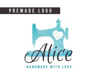 Premade Logo | handmade logo, sewing logo, small business logo, brand logo, logo design, boutique logo, custom logo design, seamstress logo