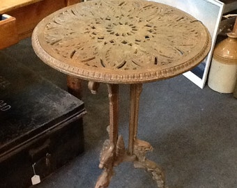 Cast iron Victorian garden table