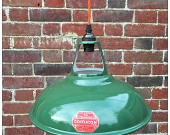 Industrial Vintage Enamel Coolicon Light Shade
