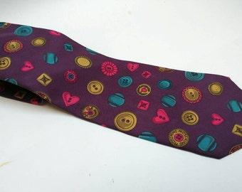 Vintage Moschino novelty silk tie