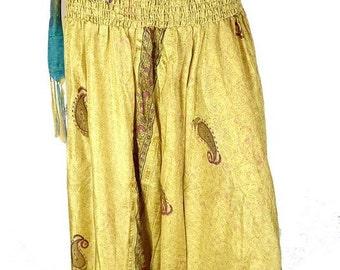 SAROUEL pants mustard dress, pants harem, Indian harem, hippie place meditation boho chic dress shorts sar113