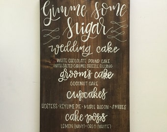 Wedding Menu, Menu Sign, Wedding Sign, Wedding Signage, Menu Board, Buffet Menu, Dessert Menu, Dessert Table, Dinner Menu, Love is Sweet