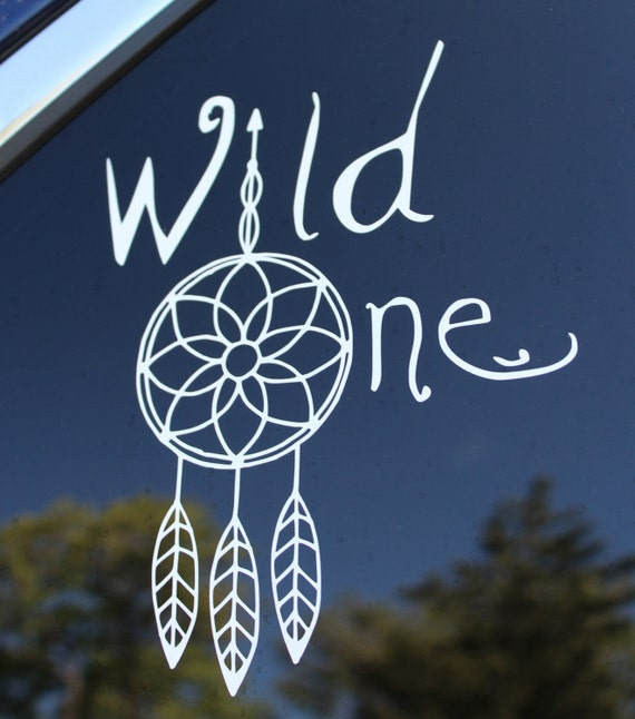 Wild One Decal Tribal Dreamcatcher Arrow Vinyl Car Or