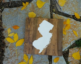12x12 Wood State Wall Art - Hand Painted Silhouette - Choose Your State