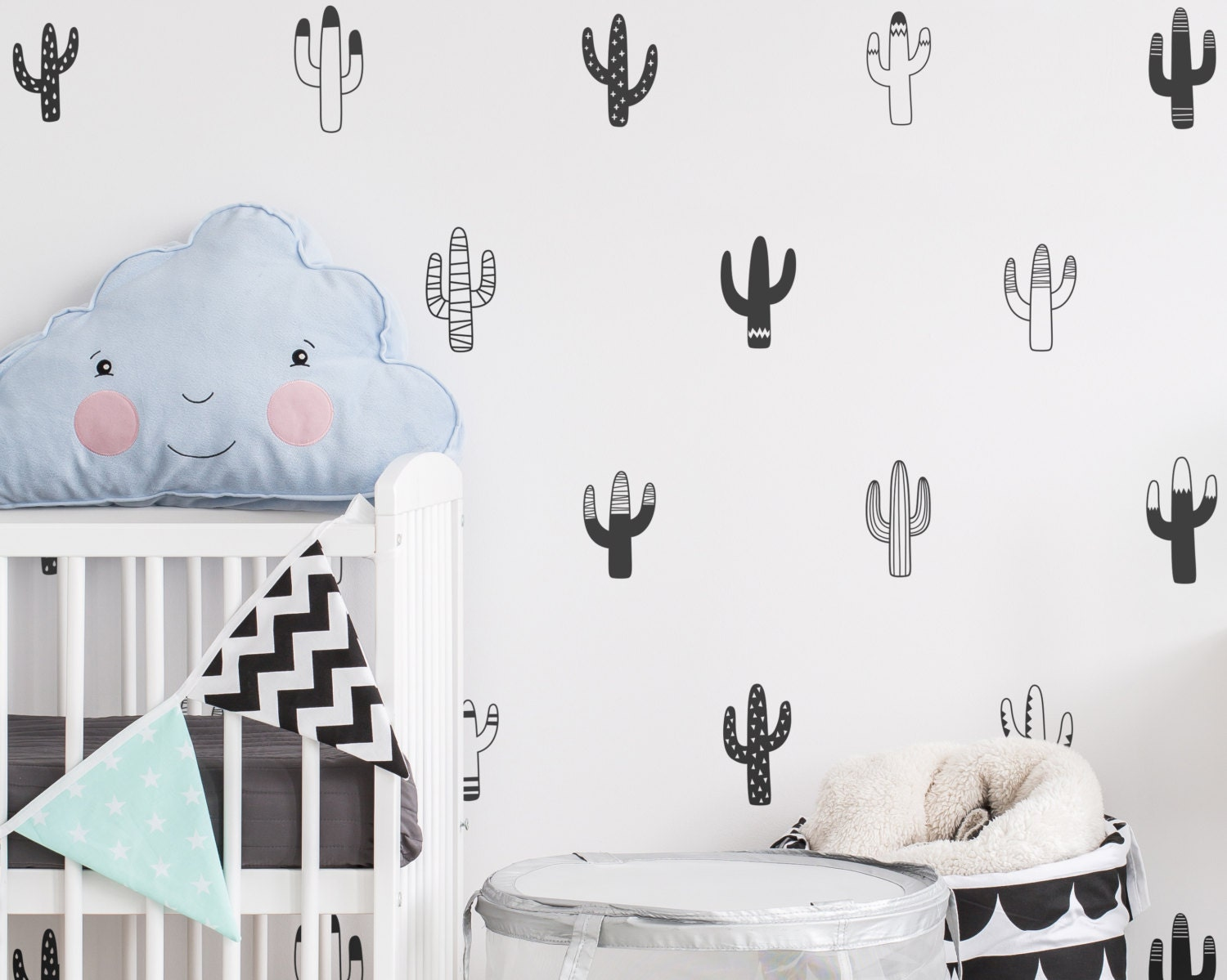 Cactus wall decals nursery decals vinyl wall decals tribal zoom amipublicfo Gallery