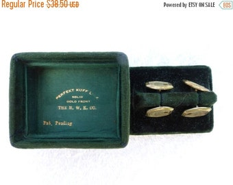 On Sale Cuff Links from H.W.K. Company in original box from the 1920's Ae61