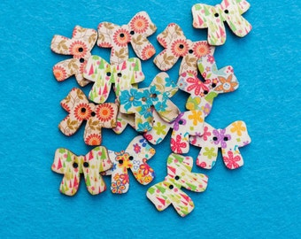 Floral Bow Buttons