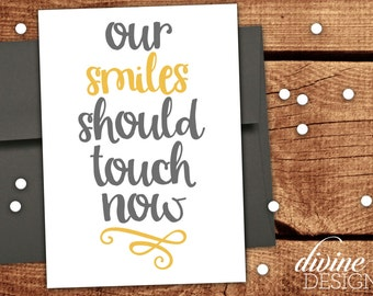 Our Smiles Should Touch Now - Funny Valentine's Day Card - Funny Valentines Day Card - Funny Love Card - Anniversary Card
