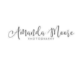 Handwritting logo premade logo photography logo text only logo calligraphy logo