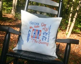 University of Florida throw pillow