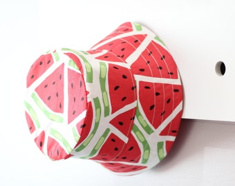 Watermelon, Red & white spot bucket hat