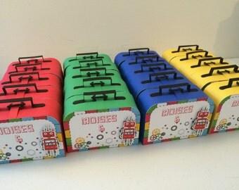 Favor box Lego Robot party 6PC