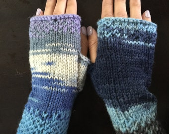 Handknitted Honeycomb Wrist Warmers