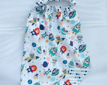 "TOWEL elastic canteen for reversible cotton child... ""journey in space"""