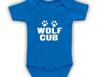 Wolf Cub Bodysuit/Onesie - Can be printed on Kids & Toddler T-shirts or Baby Bodysuits, Wolf Pack Shirt, Matching Father Son Shirts CT-331