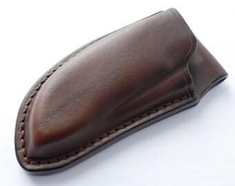Custom Leather Sheath for Emerson Commander Folding Knife