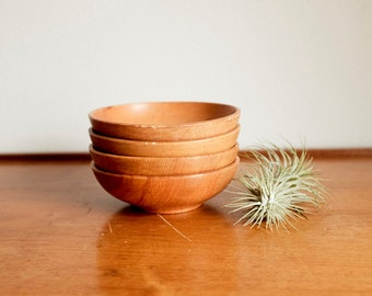Wood Bowls Set of 4
