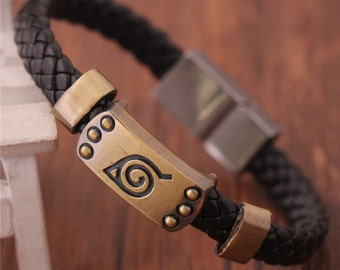 Naruto Leaf Brown Bracelet