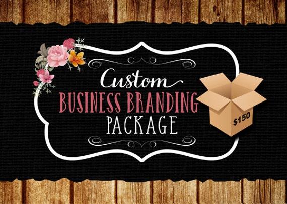 Custom hair salon logo and business card design - Business package