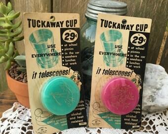 Two Mid Century Tuckaway / Telescope Drinking Cups