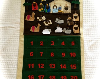 Religious Advent Felt Calendar - Nativity Scene