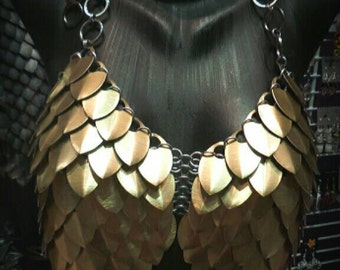 Custom Made  Chain and Scale Mail Red Sonja Cosplay Armor