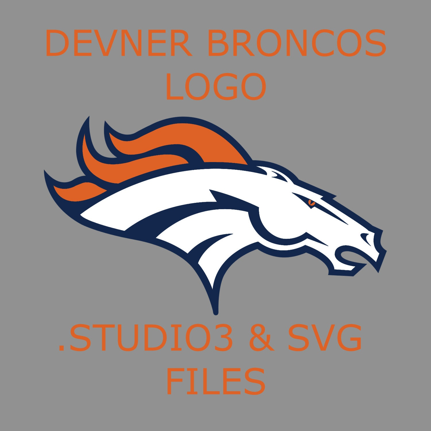 Unique denver broncos decal related items | Etsy