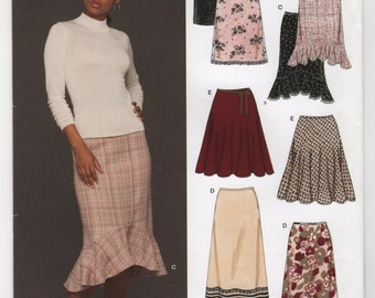 New Look Pattern 6433 Misses Skirts Six Sizes in One, size A (8-18) UNCUT