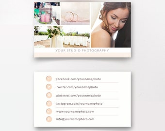Photographer Business Cards Template - Wedding Photographers - Digital Design - Photoshop Templates - PSD Design