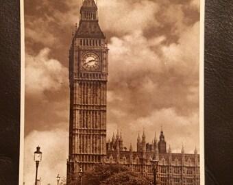 Vintage Postcard - London, Big Ben. Excellent condition!