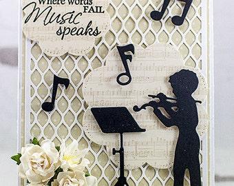 Handmade When Music Speaks Musical Greeting Card
