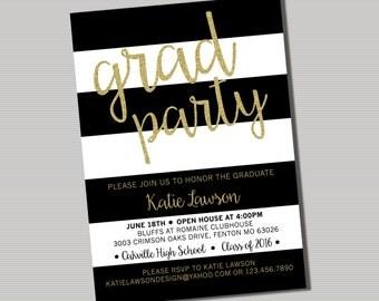 Grad Party Invitation - PRINTABLE Digital File