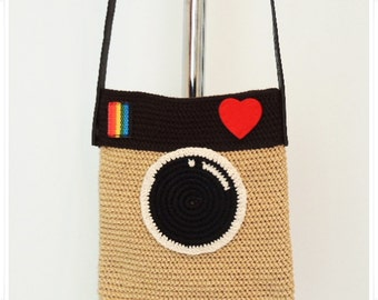 Crochet Purse, Crochet Instagram Purse, Crochet Bag, Crochet Instagram Bag, Crossbody Bag, Gift for her