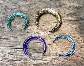 "Dichroic Glass Septum Pinchers 10g 8g 6g 4g 2g 0g 00g 7/16"" 1/2"" 9/16"" 5/8""  3 mm 4 mm 5 mm 6 mm 8 mm  - 16 mm"